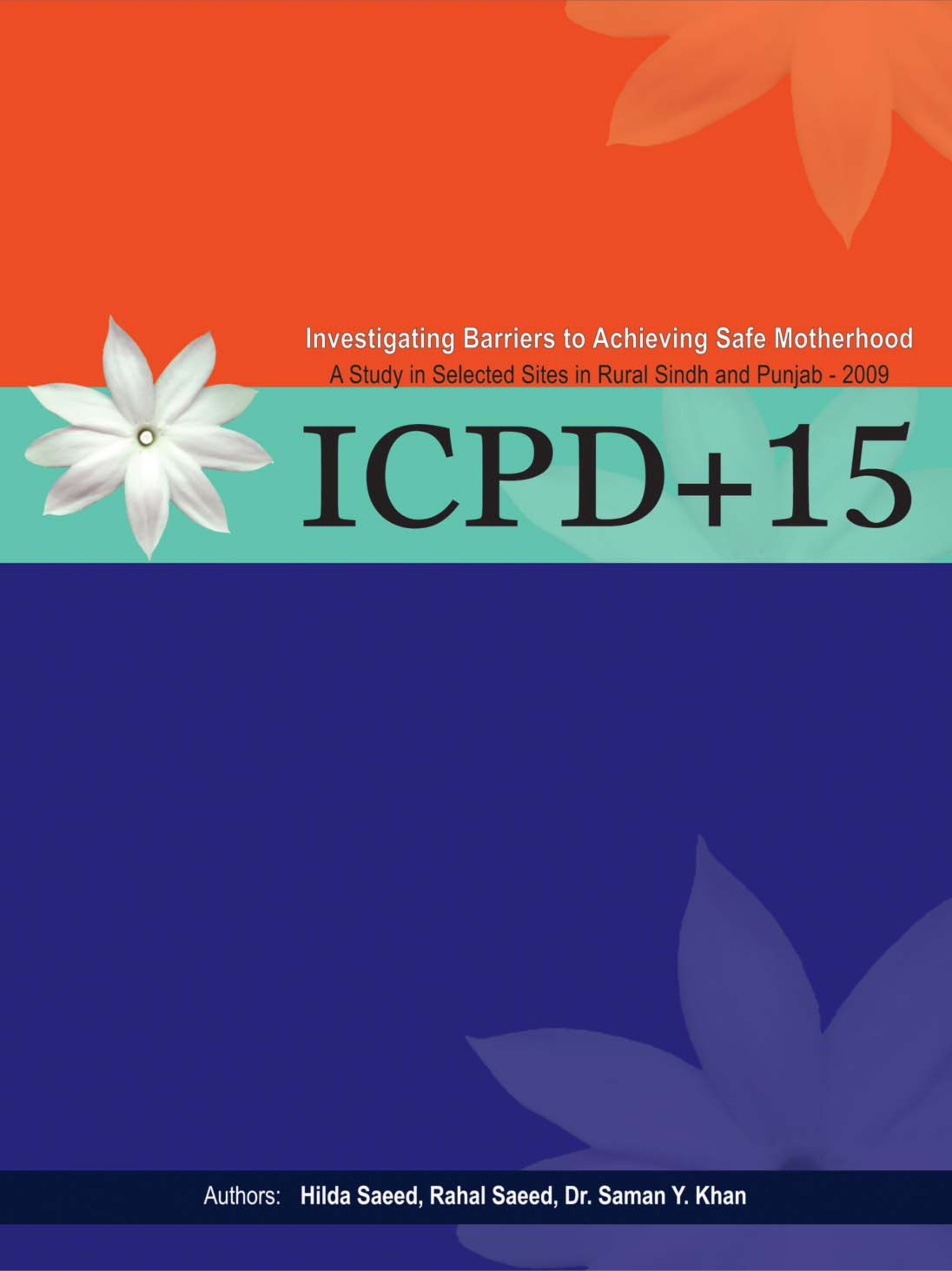 ICPD +15 Investigating Barriers to Achieving Safe Motherhood, A Study in Selected Sites in Rural Sindh and Punjab